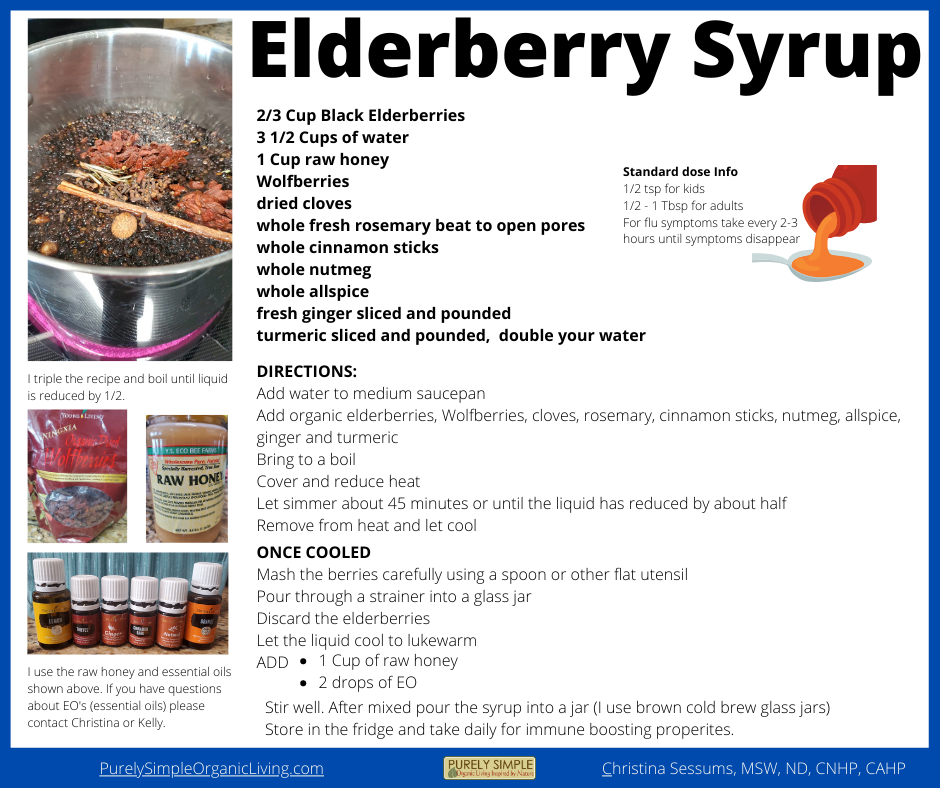 Elderberry Syrup Recipe Downloadable Printable PDF