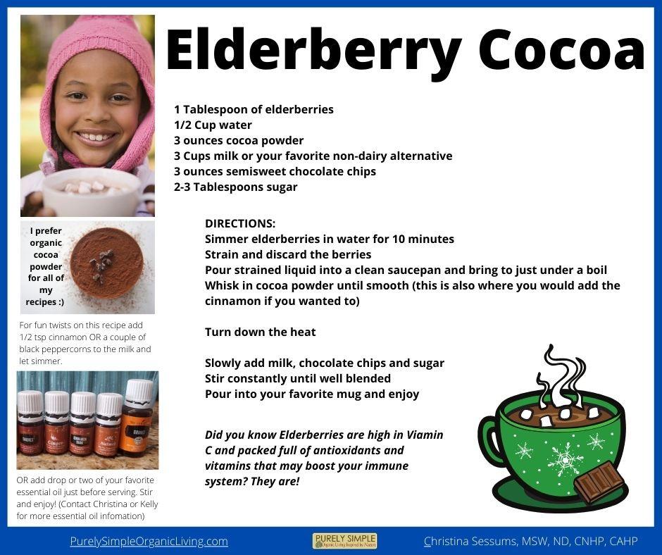 Yummy Immune Boosting Elderberry Hot Cocoa Recipe