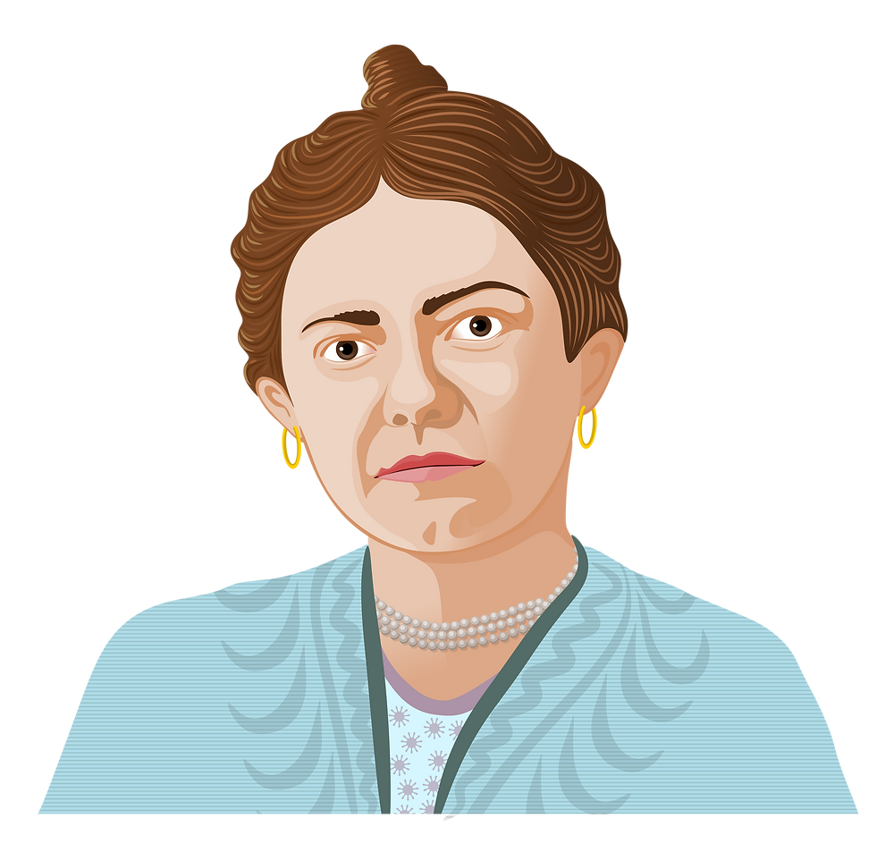 Illustration of composer Amy Beach