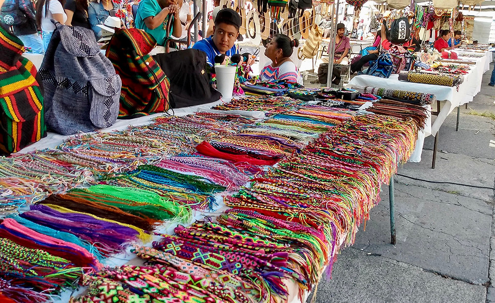 tianguis cultural flea market friendship bracelets market stall