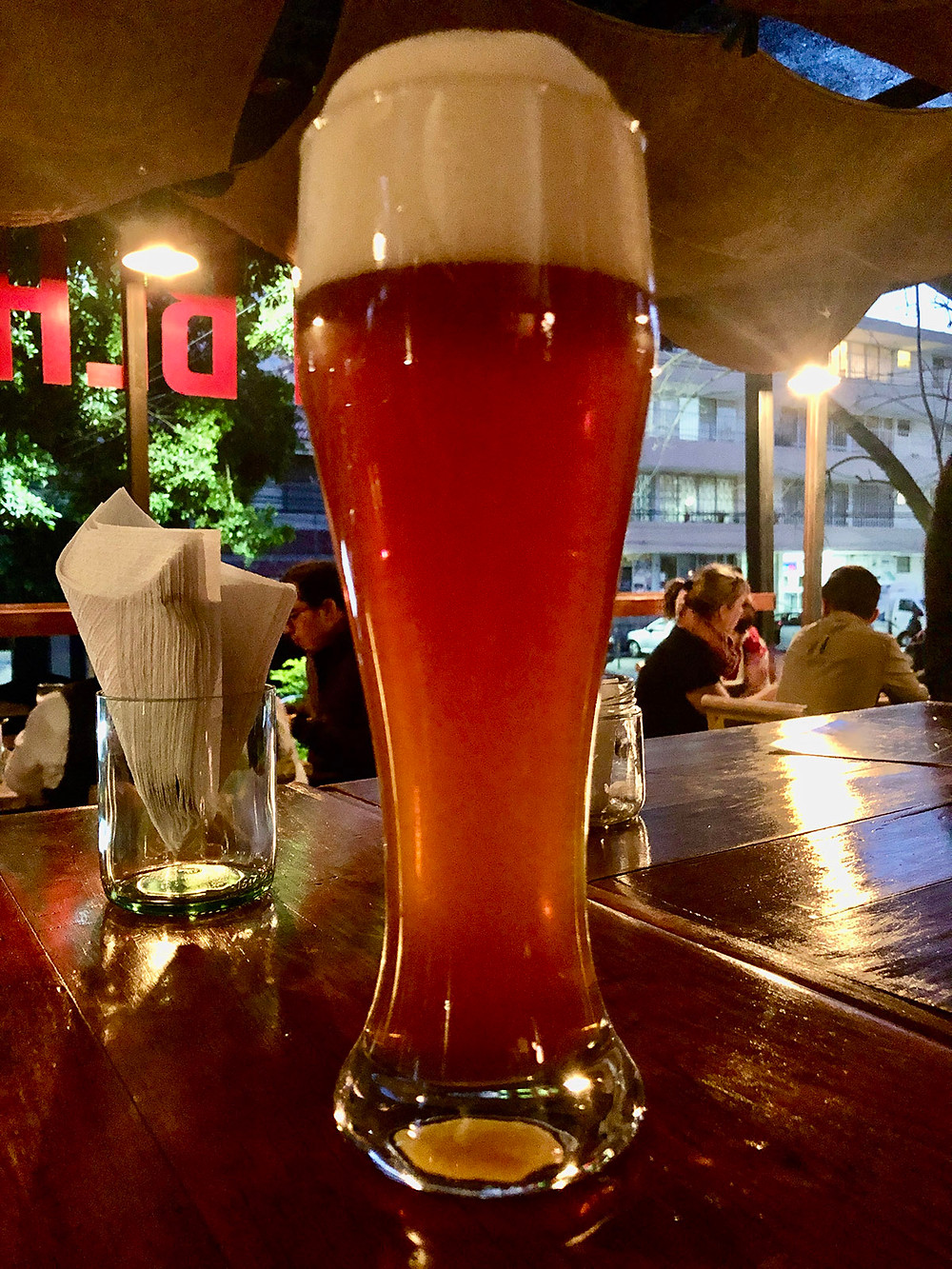 large glass of Bock beer