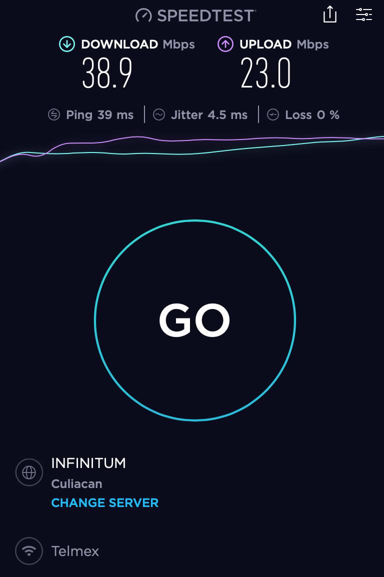 speedtest telmex result la paz