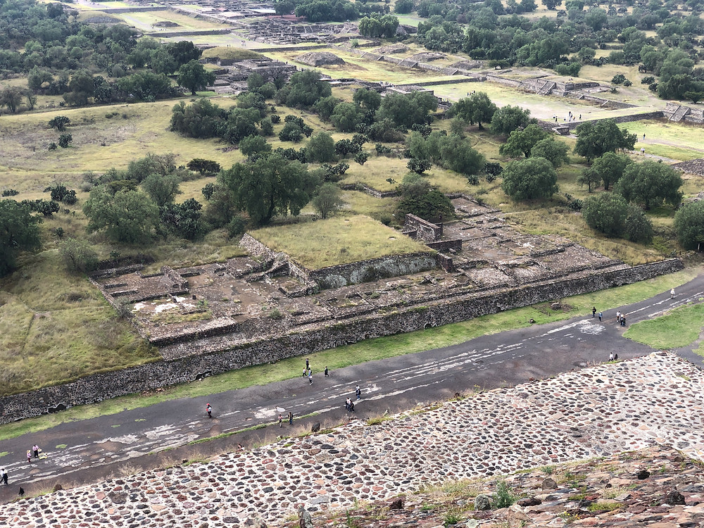 Teotihuacan view from sun pyramid