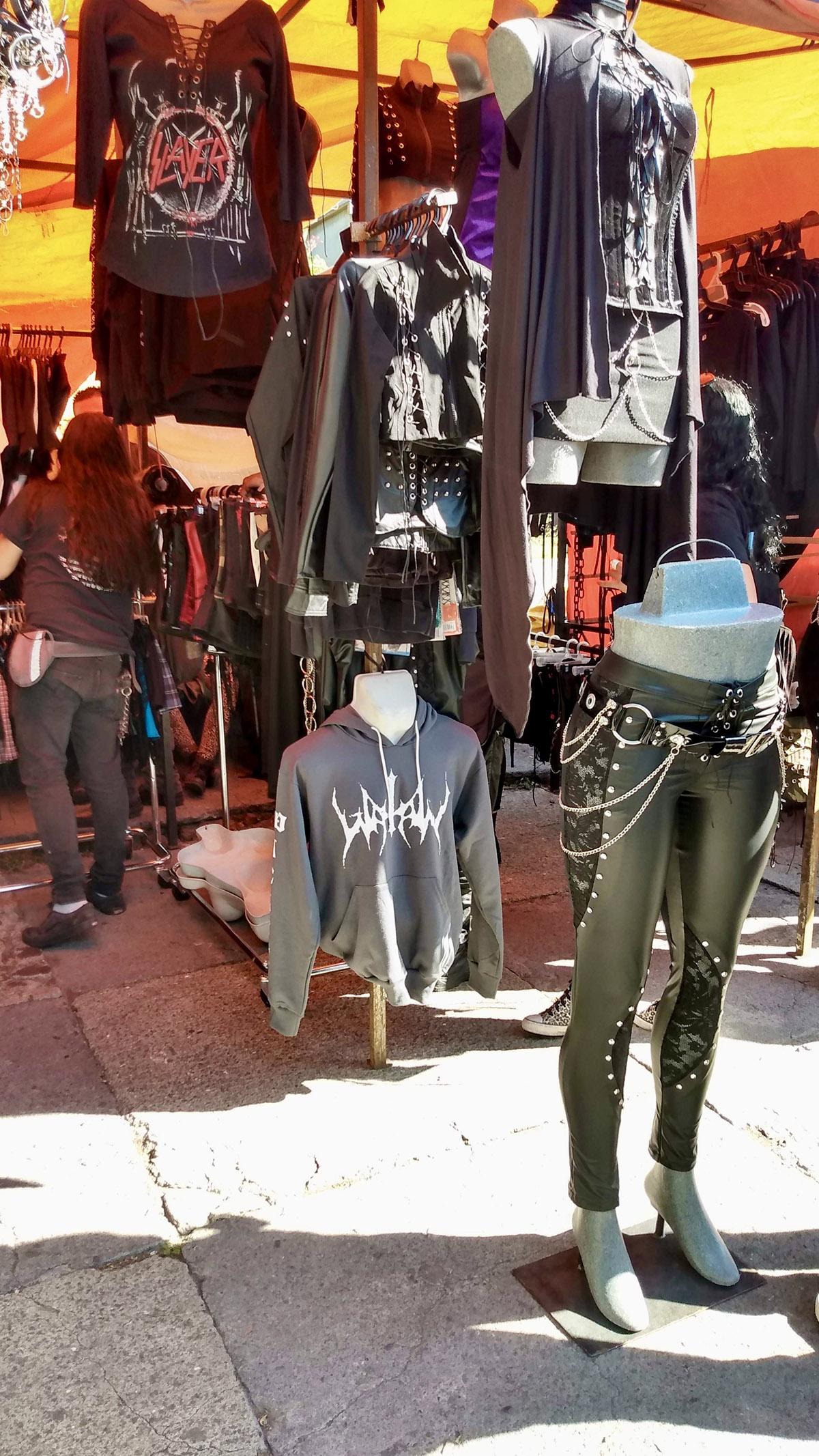 tianguis cultural flea market leather alternative clothing