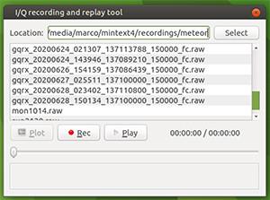 gqrx IQ recording dialog