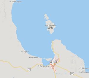 Marp of La Paz and Isla Espirito Santo