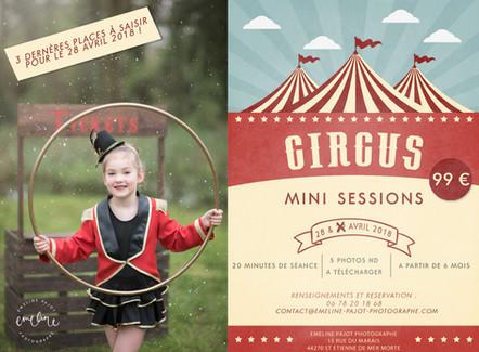 Les réservations pour les Circus Mini sessions sont enfin ouvertes !