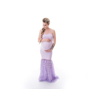 Belly Ruffle Dress Lavande