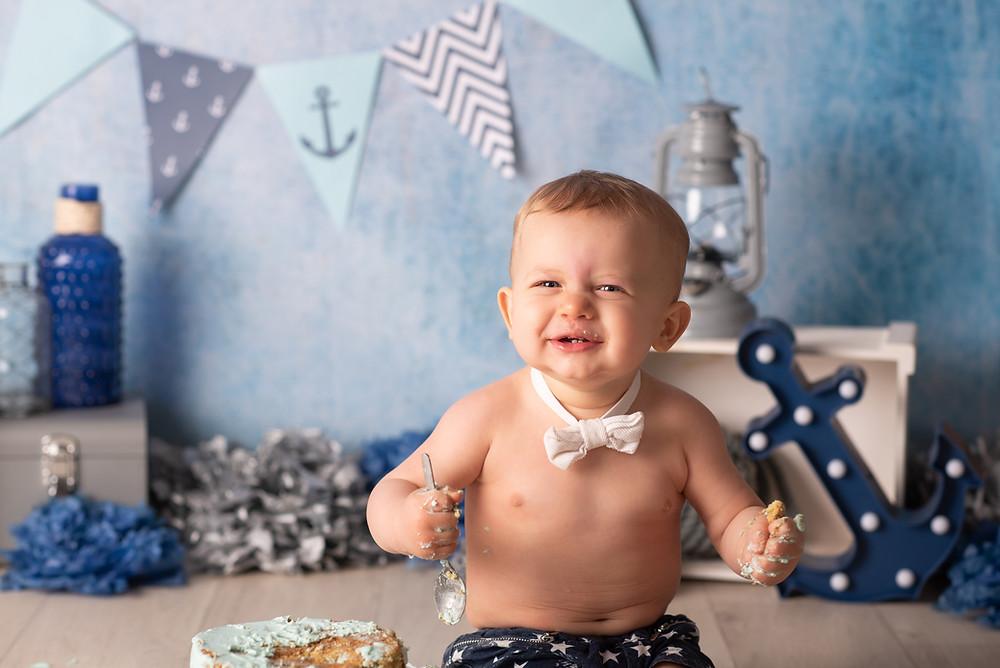 Smash Cake, premier anniversaire, photographe bébé