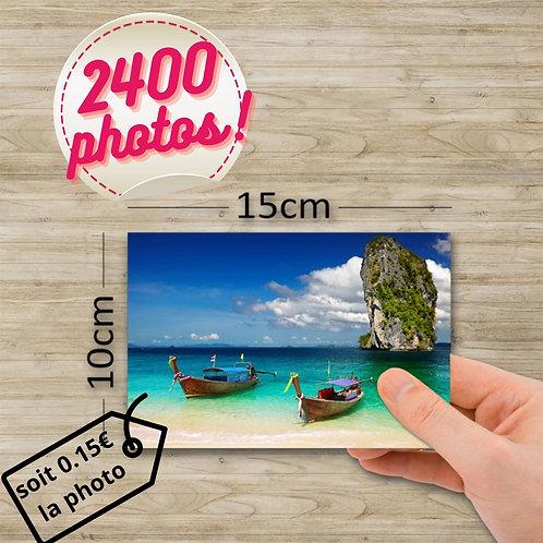 Pack tirage photo - 2400 photos