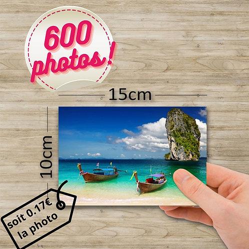 Pack tirage photo - 600 photos