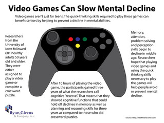 Future of Aging: Video Games Can Slow Mental Decline