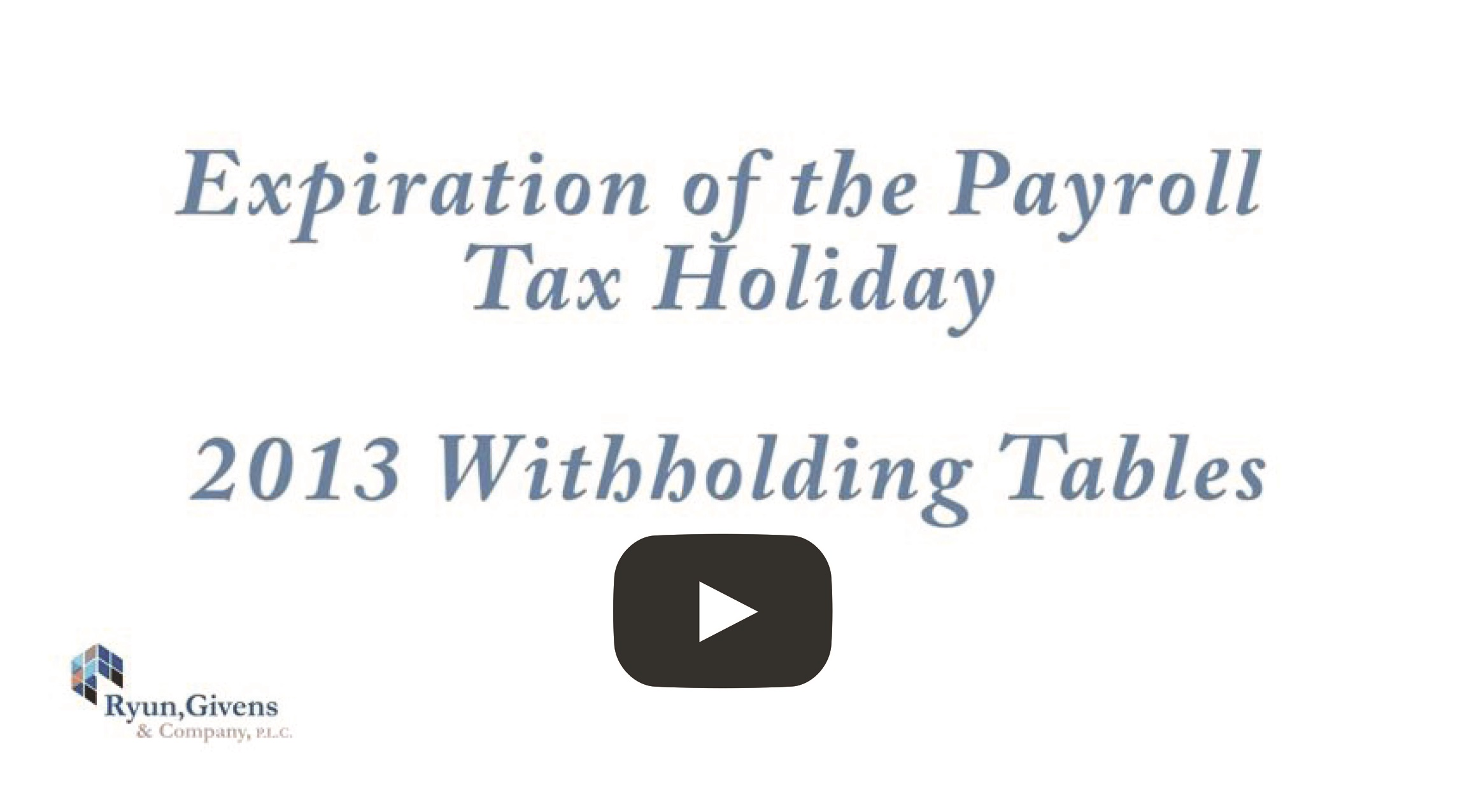 Expiration of the Payroll TaxHoliday