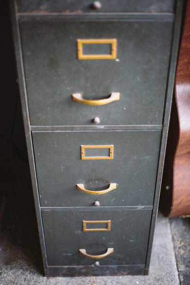 file cabinet of tax records