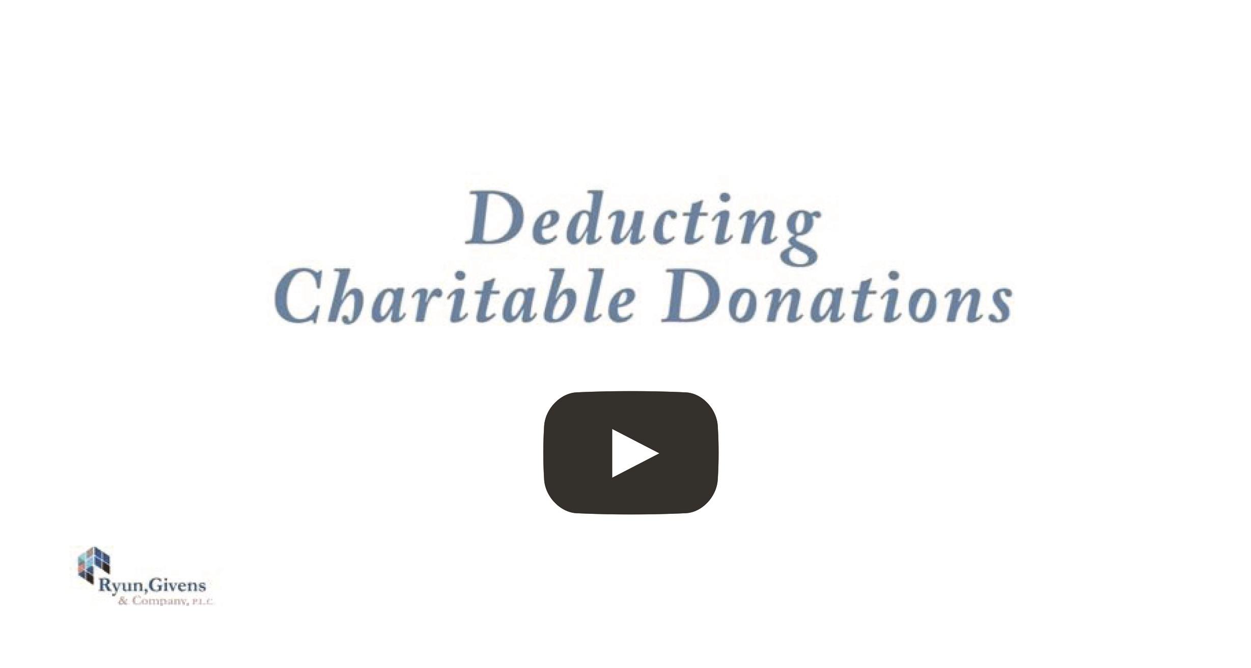 Deducting Charitable Donations