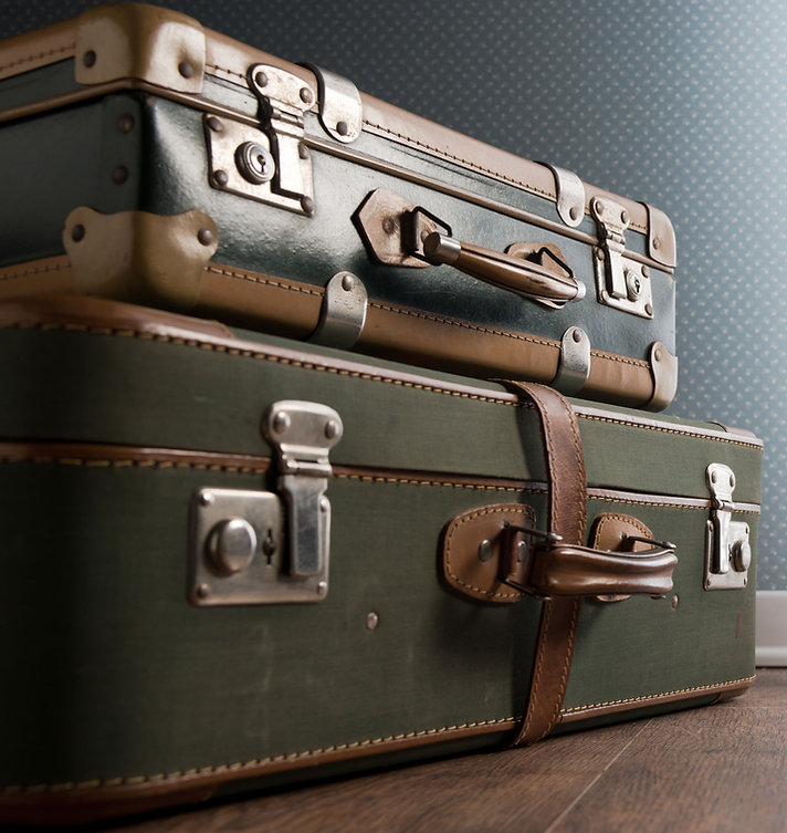 Vintage Luggage Stacked