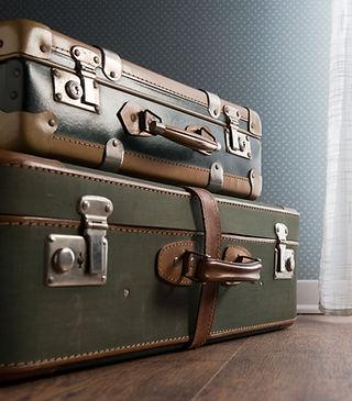 Weinlese-Gepäck Stacked