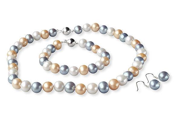 Perlen-Set Tosca (Collier, Armband, Ohrenhänger)