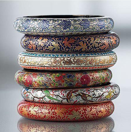 Kashmiri Papier Mache Bangles - A set of 2 bangles