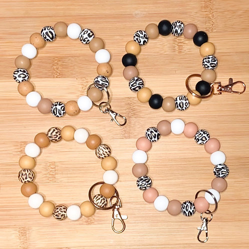 Leopard Keychain Bracelets