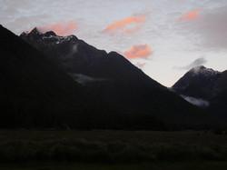 Sonnenuntergang über Milford Sound