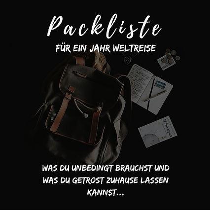 Weltreise Packlite