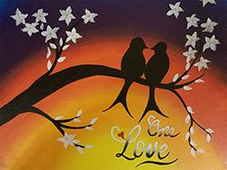 Sip and Paint Bird Idea