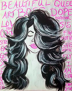 ASH + ART Sip and Paint Pink Survivor