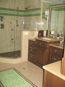 Green glass tile bathroom 2