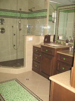 Green glass tile bathroom 2