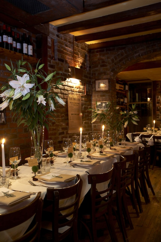 West Village Restaurant Wedding