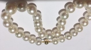 South Sea White Necklace 13mm to 10mm