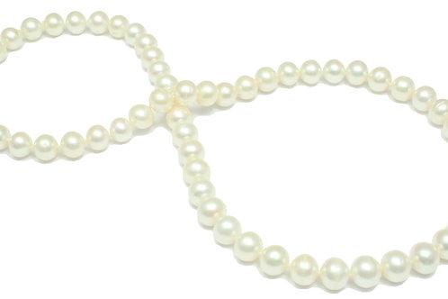 N40 White Fresh Water Round Pearl  8.5mm