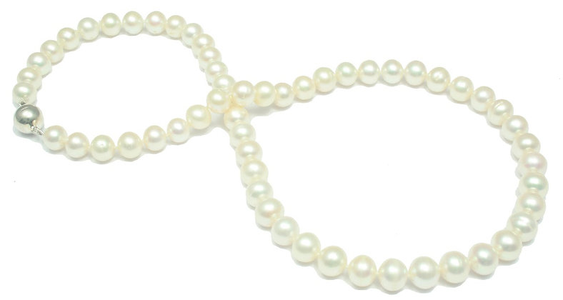 N40 White Fresh Water Round Pearl  8.5mm