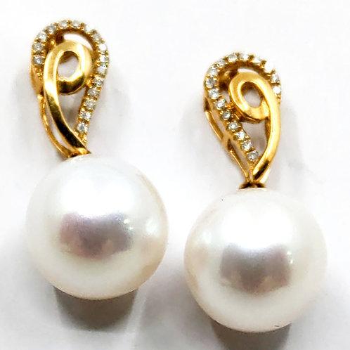South Sea and Diamond earrings