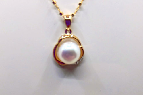 9ct Fresh water pearl pendent
