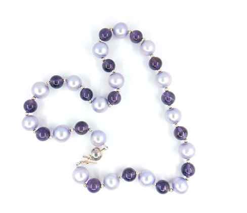 Amethyst and Mauve Fresh Water Pearl