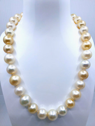 14mm Golden South Sea Necklace