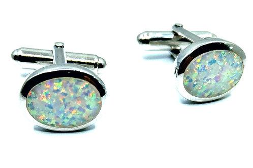 Cuff links Immitation Opal