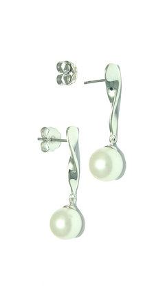E17 Silver drop earring