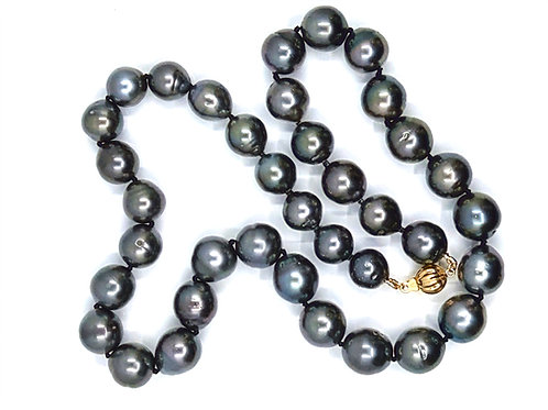 T065 Dark Grey Tahitian Necklace