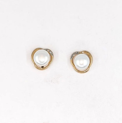 9ct and Diamond stud earrings