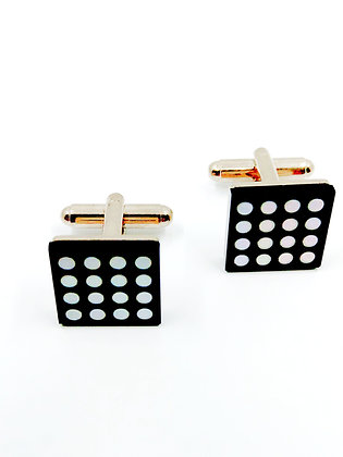 Cufflinks SIlver Mother of Pearl