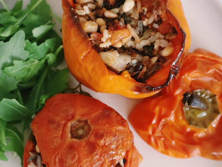 Vegan Stuffed Greek Peppers