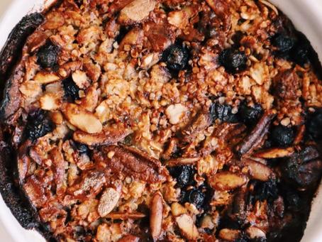 Berry Pecan Baked Oats