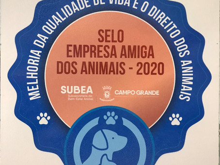 Petland recebe Selo Empresa Amiga dos Animais 2020da Prefeitura de Campo Grande