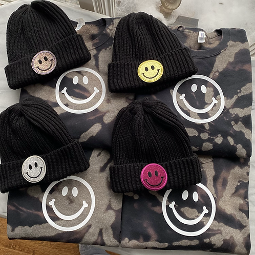Choose Happy Bleach Swirled Sweatshirt