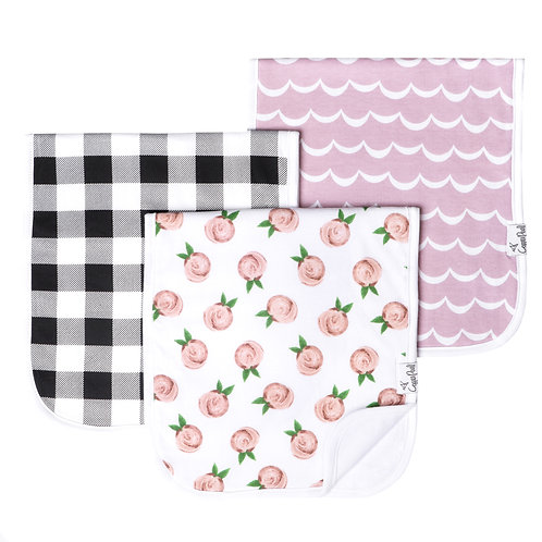 Bibs and Burp Cloth Sets by Copper Pearl