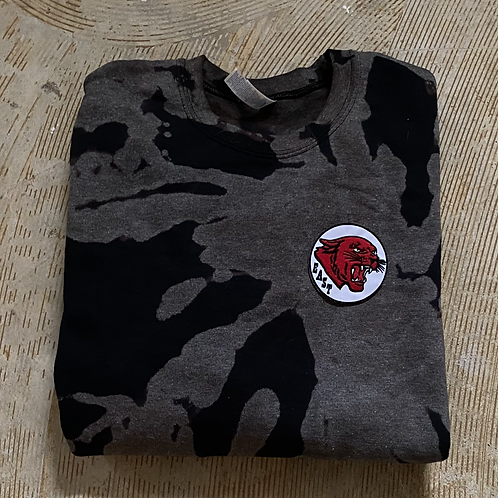 Black Bleach Dyed Crewneck Sweatshirt
