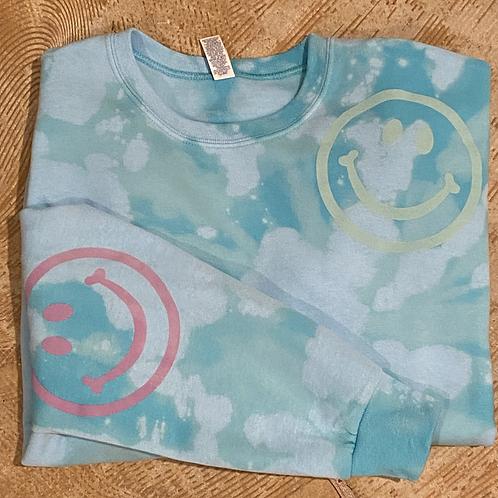 Happy Sweatshirt (Aqua)